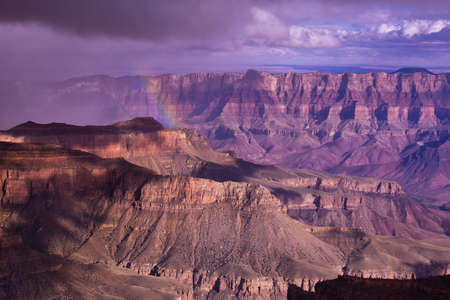 Distant Rainbow in the Grand Canyon photo
