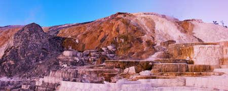 Mammoth Hot Springs Panorama photo