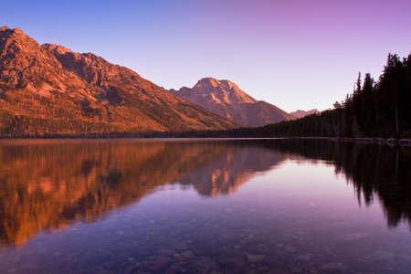 Mount Moran Reflected in Jenny Lake photo