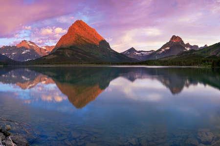 Beautiful Sunrise Reflection in Montana