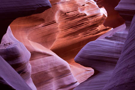 Abstract Curves in a Desert Canyon Stock Photo - 18518741