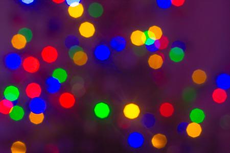 Blured color lights on dark background