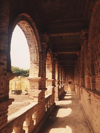 corridors: One of the remaining corridors at Kellies castle in Batu Gajah, Perak Stock Photo