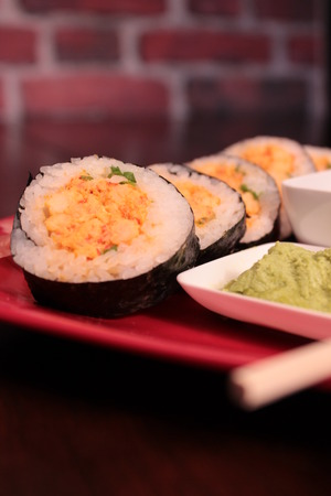 Cajun Sushi Roll Imagens - 31287639