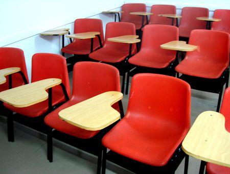 schoolroom:                     A schoolroom for students            Stock Photo
