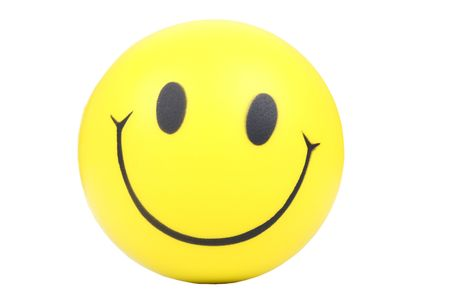smily face: Yellow smiley face on white background.