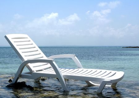 Chair on the beach of exotic sea  Stock Photo - 7413889