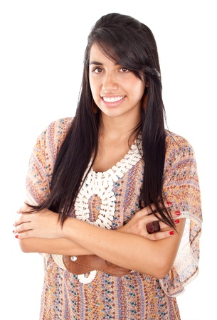 Portrait of a beautiful Isolated young female student Stock Photo - 10204121