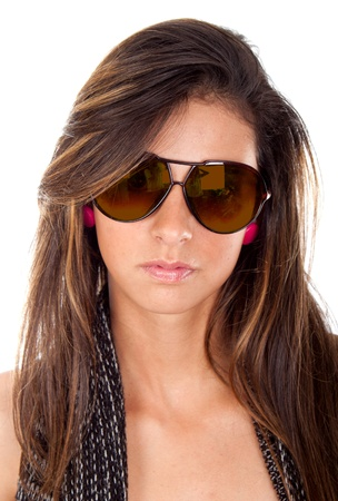 Young attractive wearing stylish sunglasses   photo