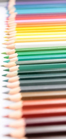 colour pencils: Color pencils isolated on white background