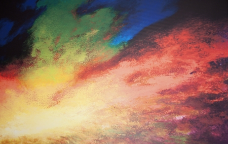 Picture of aurora borealis background - abstract  photo