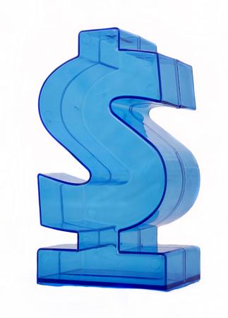 Dollar sign on white background. Stock Photo