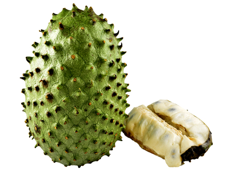 Isolated close-up image of soursops.