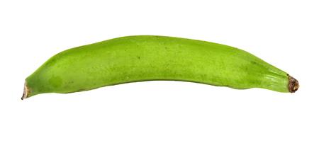Green banana isolated on a white background.  Reklamní fotografie