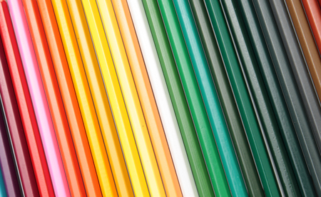 Color pencils form abstract lines pattern Banque d'images