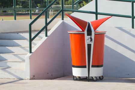 bins: Recycle Bins Stock Photo
