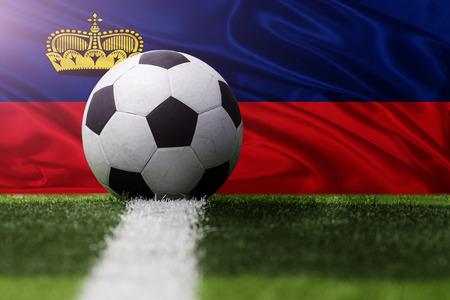 liechtenstein: soccer ball against Liechtenstein flag
