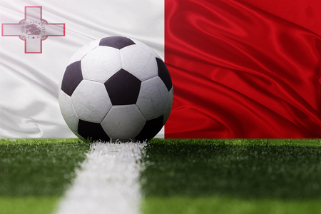 malta: soccer ball against Malta flag