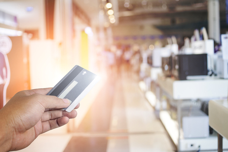 credit union: Credit Card,Shopping Stock Photo