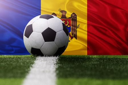 soccer ball against Moldova fla