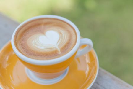Close up Coffee latte art