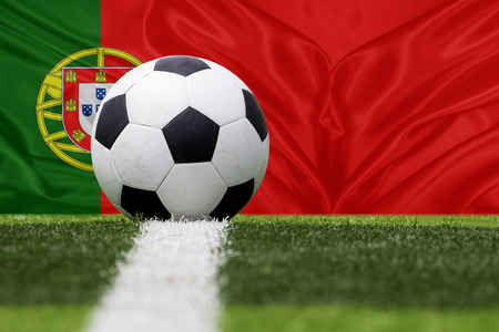 soccer ball Remove sight against Portugal flag
