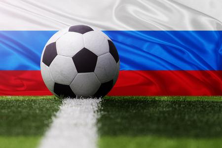 soccer ball against San Marino flag
