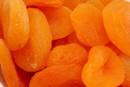 Macro photo of Turkish Apricots Stock Photo