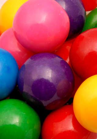 Macro photo of gumballs.