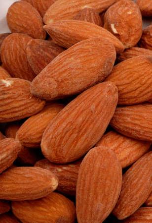 Macro photo of salted almonds