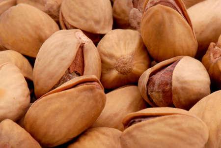 Macro photo of salted pistachios