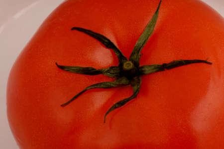 Macro photo of red tomato