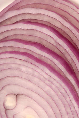 Macro photo of sliced red onion