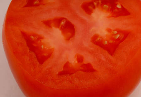 Macro photo of Red Tomato Stock Photo