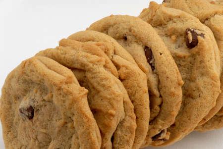 Photo of fresh chocolate chip cookies Stock Photo