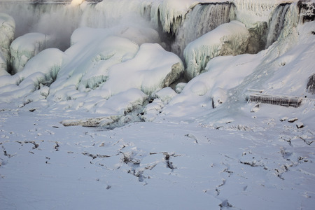 Winter photo of the American Falls, Niagara Falls, NY.