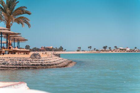 Peoply lying at the Sultan Bay El Gouna Beach