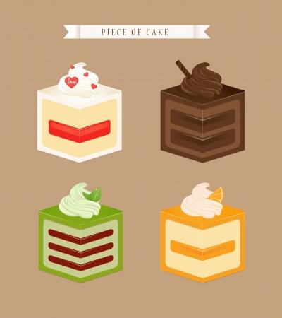 cube cake vector Vector