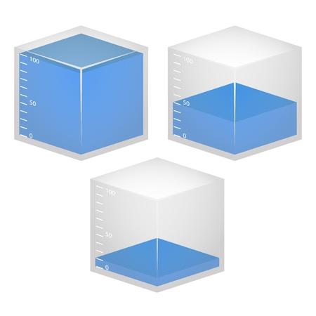cube water measure
