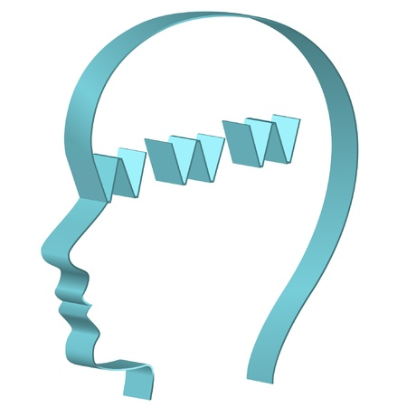 Human head with www symbol. Global internet concept. Vector