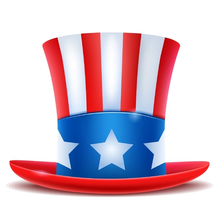 fourth of july: 4th of July celebration hat icon.