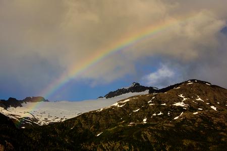Rainbow in the mountains of Alaska