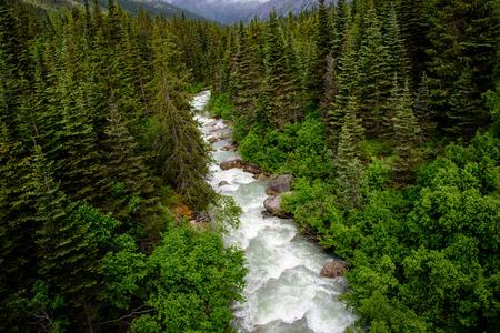 alaska scenic: view from the skagway railway Stock Photo