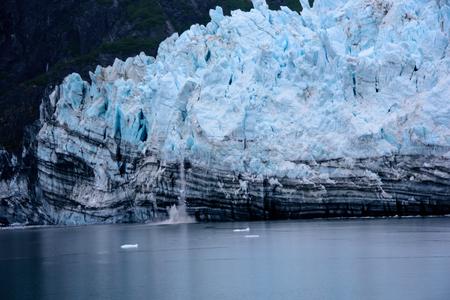 alaska scenic: glacier calving