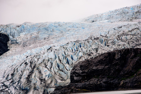 Close of a glacier