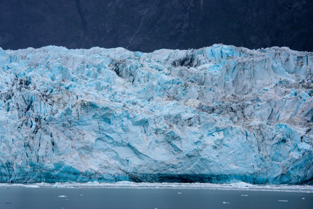 Close up of the face of a glacier