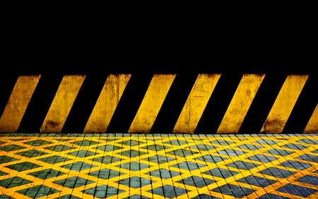 Black and yellow lines Stock Photo