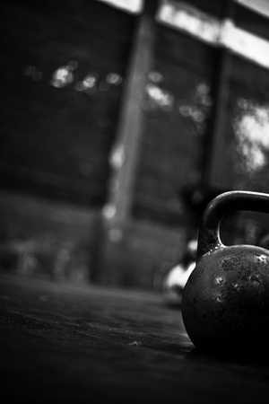 crossfit kettlebell in a gym