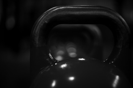 kettlebells in a crossfit gym III Stock Photo