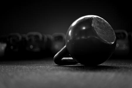 kettlebells in a crossfit gym II 스톡 콘텐츠